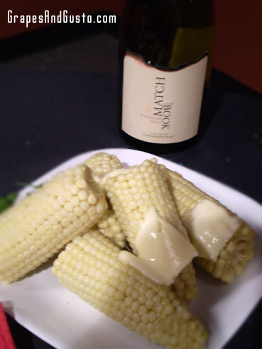 This corn is not anemic – it is white corn, so fresh and sweet, you may forego dessert!