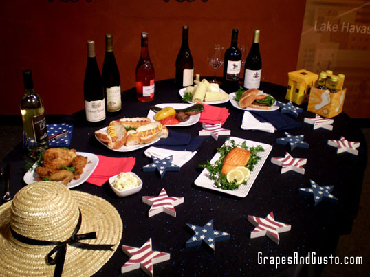 "The full ""Picnic Pairings"" set-up from my 6/29/09 live taping of ""The Pat McMahon Show"" (AZTV7)."