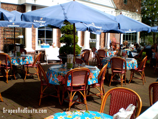 Dine al fresco on Centro's patio, overlooking the quaint Fairfield Center.