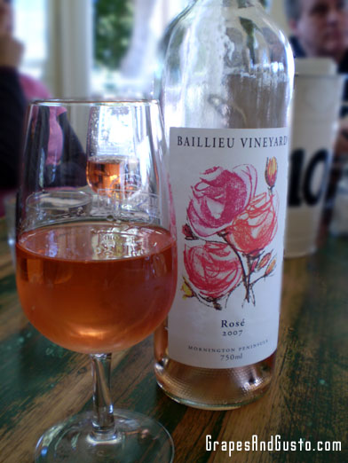 Australia's Baillieu Vineyards Rose is both pretty and versatile, though may be hard to come by stateside.